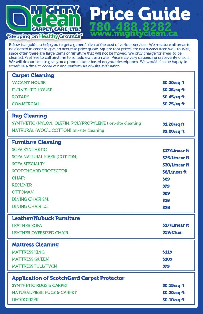 Carpet Cleaning Price